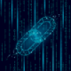 Digital image of chain links to represent blockchain technology